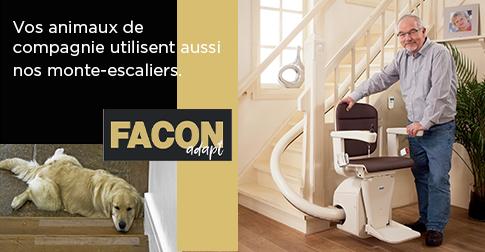 Vos animaux de compagnie utilisent aussi nos monte-escaliers.